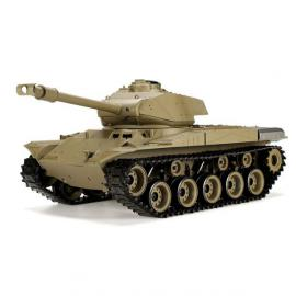Танк HENG LONG US M41A3 Bulldog р/у аккум 3839-1, 1:16, дым,звук,вращ.башня,пневм.орудие